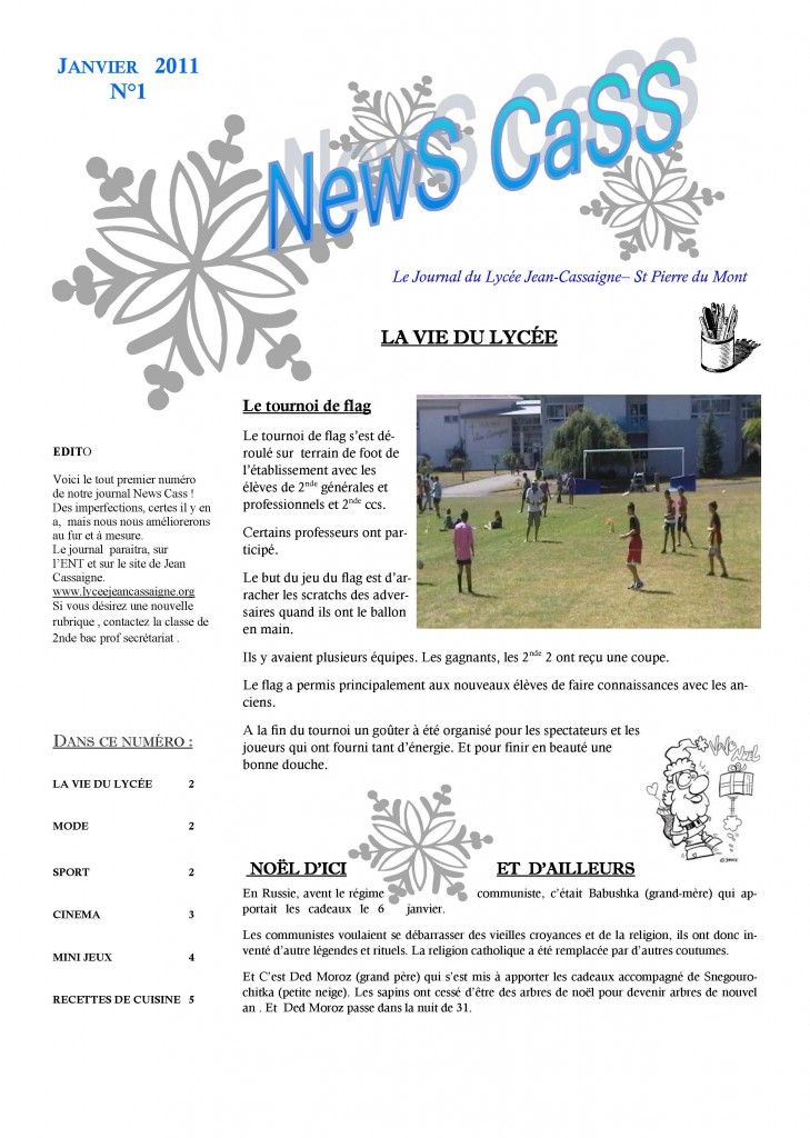 Journal de janvier